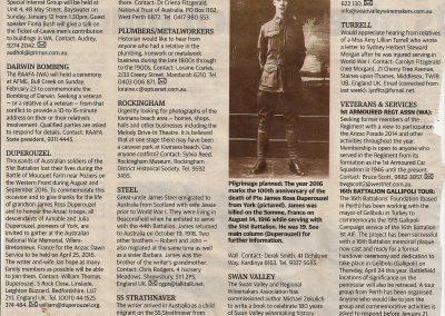 Can you help The West Australian newspaper 7 January 2014.