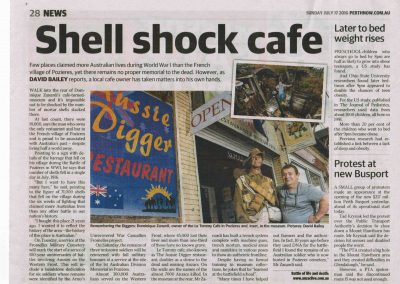 'Shell shock café' – Le Tommy Café, Pozières, France