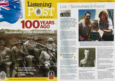 The Listening Post magazine for The Returned & Services League
