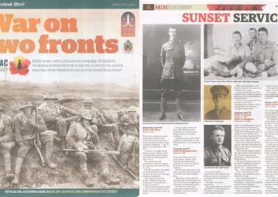 War On Two Fronts Anzac Centenary