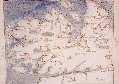 Brittany 1594, Sloane Manuscript SL557 British Library, London - Back of Book