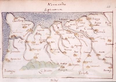 Normandy 1594, Sloane Manuscript SL557 British Library, London - Front of Book