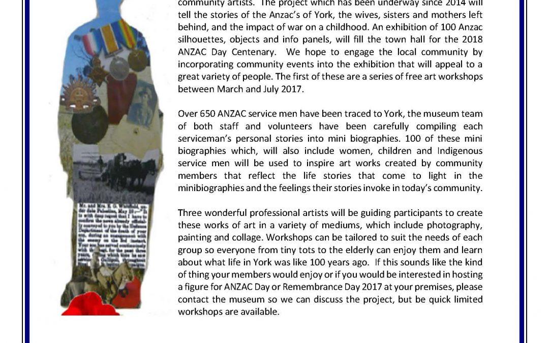 The Residency Museum York, Western Australia 'Free Art Workshop for Community Groups'