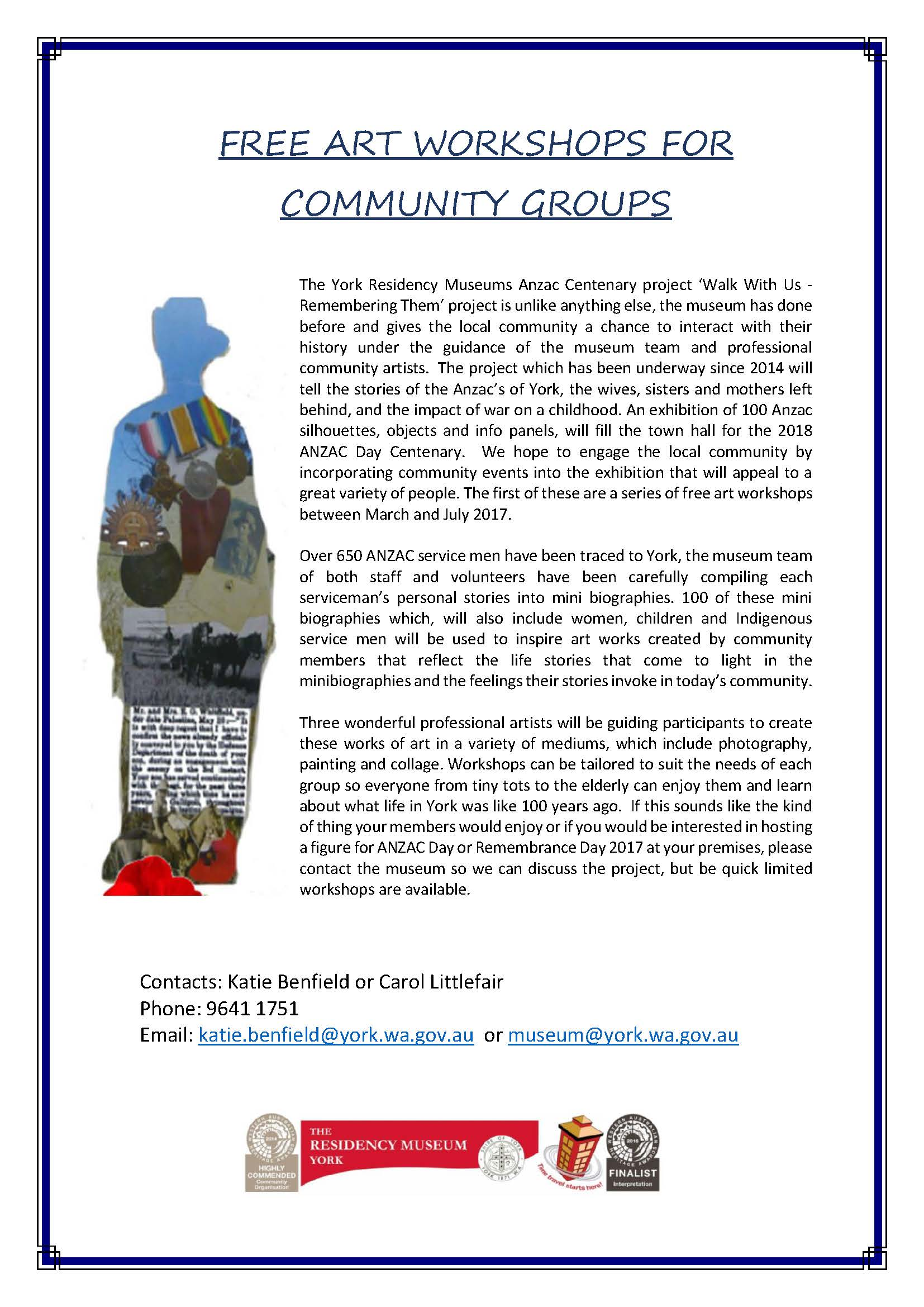 Free community arts workshop poster-1