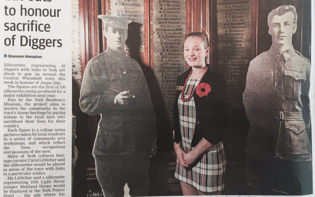 Cut-Outs to Honour Sacrifice of Diggers