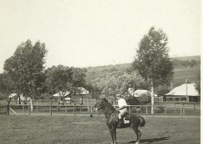 5 Alec Duperouzel on horse back