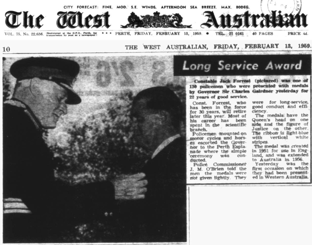 The West Australian mewspaper 13 Feb 1959