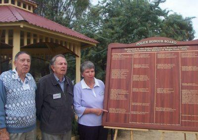 1 Wagin Police Honour Board Ken Jack Loris 2005