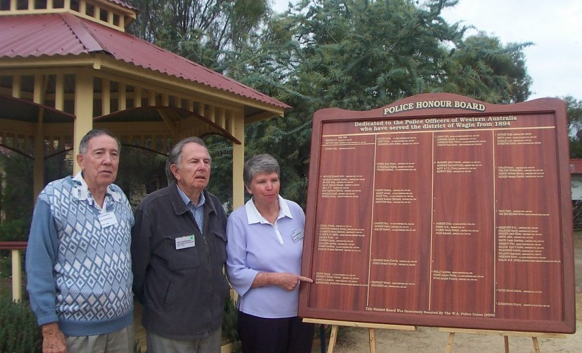Wagin Police Honour Board