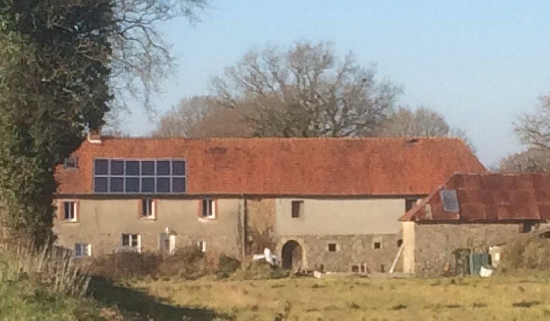 The Farm 'le pérouzel' in the hamlet of Feugères, Normandy, France
