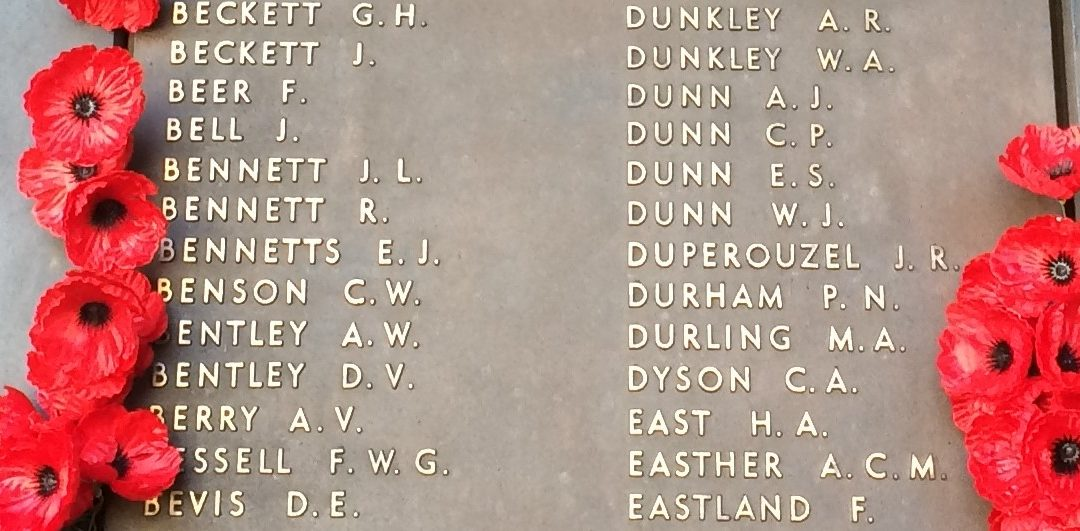 Roll of Honour Name Projection