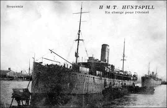 HMT Huntspill troop ship 1916