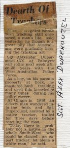 2 Sgt A Duperouzel 1458 retirement article Sept 1961 The West newspaper